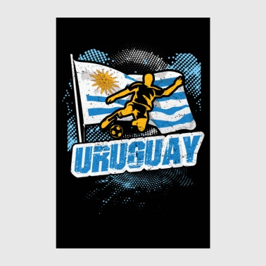 Country Uruguay countries flag football flag gift - Poster 8 x 12