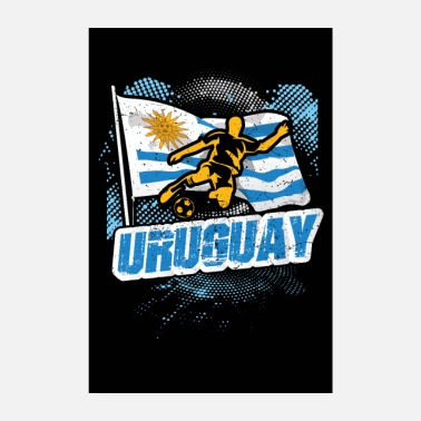 Uruguay countries flag football flag gift - Poster 8 x 12