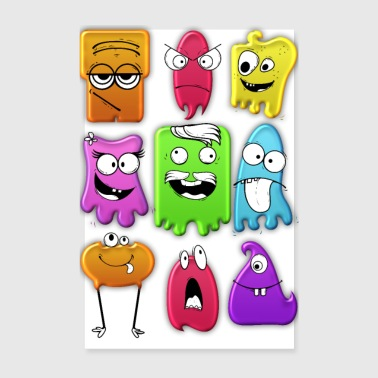 Ghost Funny ghosts - Poster 8 x 12