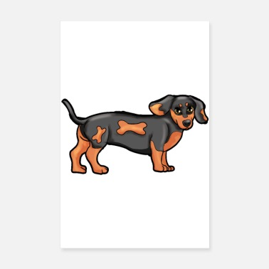 Dogowner Dachshund Dog Dog Owners Animal Love Animal Shelter Gesch - Poster