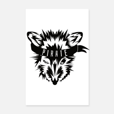 Pirate Fox pirate - Poster 8 x 12