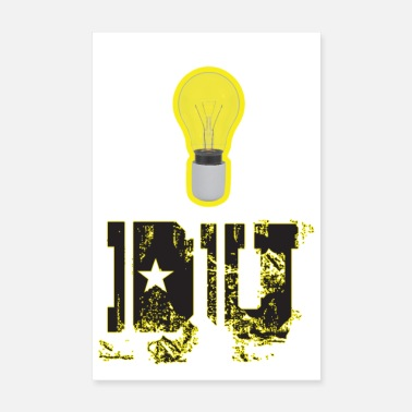 Attractive Clever lightbulb - Poster 8 x 12