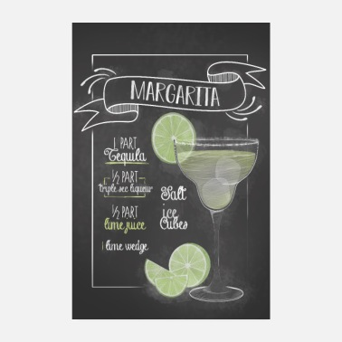 Bar Cadeau Recette Margarita Cocktail Bar - Poster 20 x 30 cm