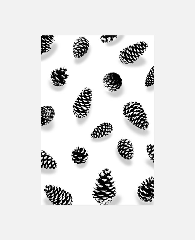 Nature Posters - SCANDI FIRES BLACK WHITE - Posters white