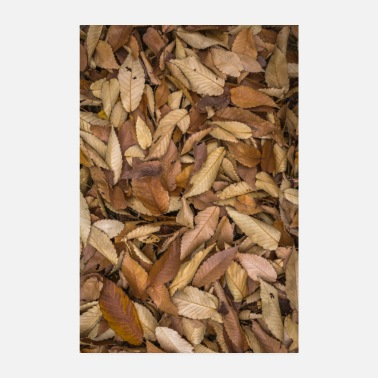 Cosy autumn leaves - Poster 8 x 12