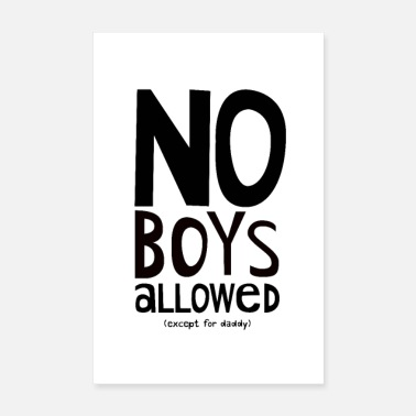 Nursery No Boys Allowed Nursery Kids Poster for Girls - Poster