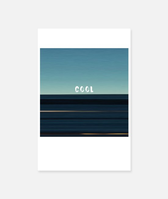 "Strips Posters - Casual photo stripes with ""COOL"" lettering - Posters white"
