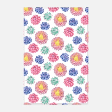Colourful flowers - Poster