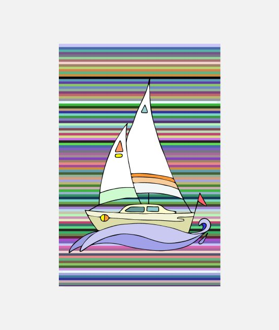 Water Posters - Sailboat - Posters white