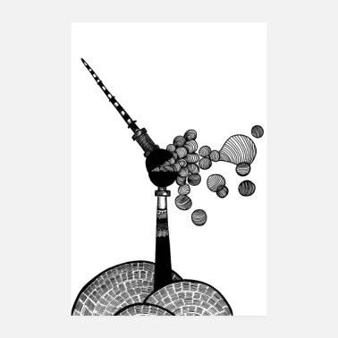 Berlin Tv Tower Berlin TV Tower Bubbles Poster - Poster