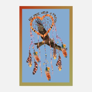Frech Poster Falcon dream catcher style de texte - Poster