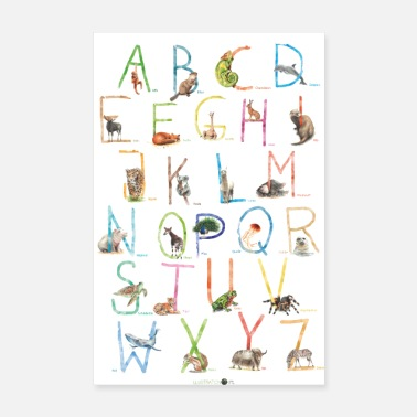 Alphabet ABC Poster Tiere - Poster