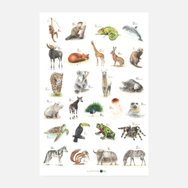 Abcposter ABC Poster Animals - Poster