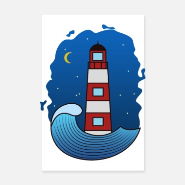 Lighthouse Nocturnal lighthouse - Poster
