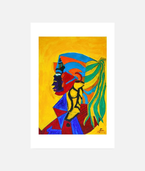 Artist Posters - Indian woman | 2002 - Posters white