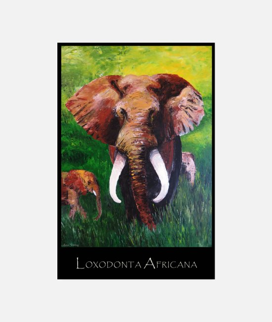 Social Posters - Elephant I Tusker I Africa - Posters white
