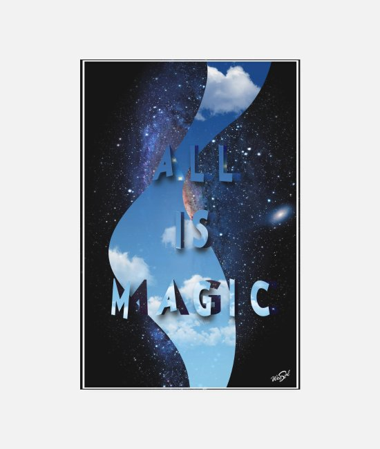 Magia Poster - all is magic POSTER - Poster bianco