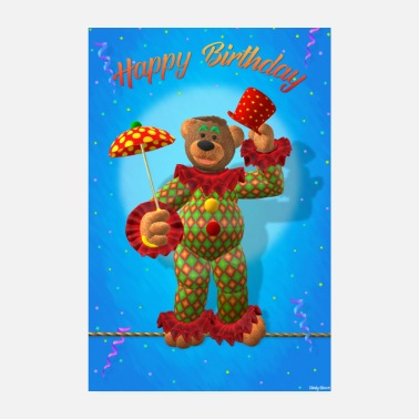 Happy Birthday Dinky Bears Happy Birthday Clown - Poster