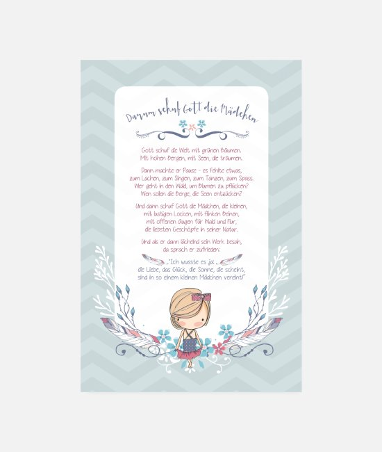 Big Posters - Boho therefore creation god goddaughter - Posters white