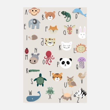 Animal Abc ABC poster animals alphabet gift schooling - Poster