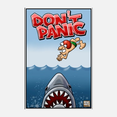 Attack Don't Panic - Shark Attack Poster - Poster