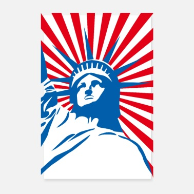 Nyc Freiheitsstatue USA Amerika - Pop Art New York NYC - Poster
