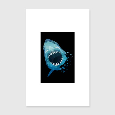 HAI ATTACKS GIFT ANGLER SEA FISH HAWAII - Poster 20x30 cm