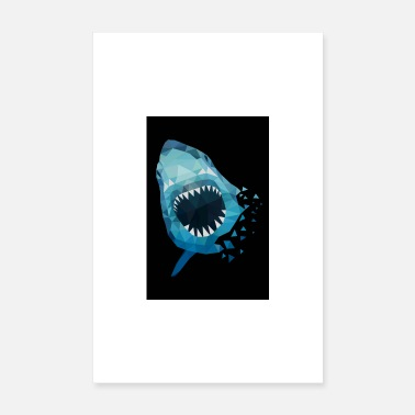 Akvarium HAI ATTACKS GIFT ANGLER SEA FISH HAWAII - Poster 20x30 cm