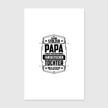 Stolzer Papa mit Tochter - Poster - Poster 20x30 cm