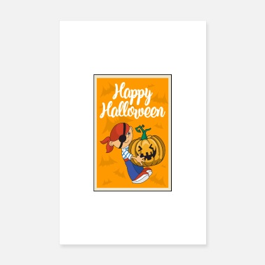 Mummy Halloween pumpkin pirate - Poster 8 x 12