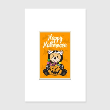 Halloween pumpkin candy bear - Poster 8 x 12