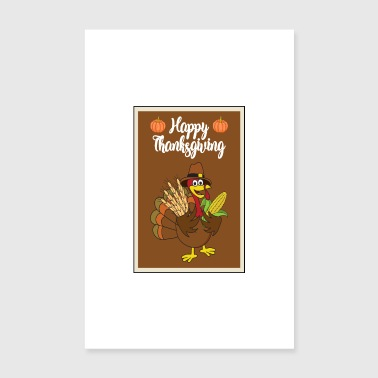 Thanksgiving Turquie dinde Thanksgiving - Poster 20 x 30 cm