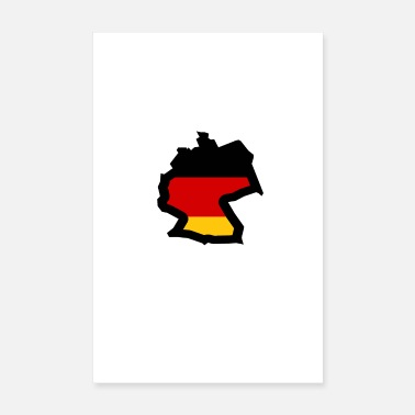 Writing Allemagne - Poster 20 x 30 cm