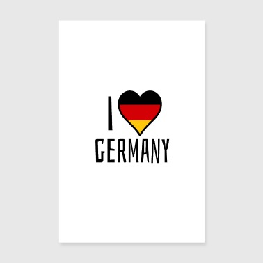 I love Germany - Poster 8 x 12
