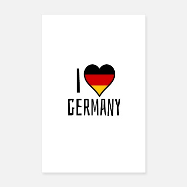 European Champion I love Germany - Poster 8 x 12