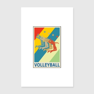 Sammenslutning Retro Vintage Style Beach Volleyball Player - Poster 20x30 cm