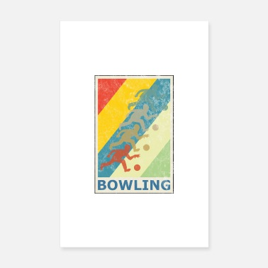 Bowling Retro vintage bowling bowling spiller bowling bold - Poster