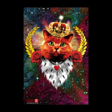 10 Red Cat King Crown Red Cat King Crown Gold - Poster 8 x 12