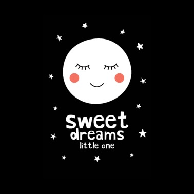 Sweet Dreams Little One - Moon - Poster 8 x 12