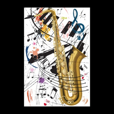 Sax & Piano - Poster - Poster 20x30 cm