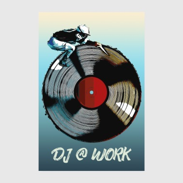 Disc Jockey DJ at work Poster/Shirt/Accessoires - Poster 20x30 cm