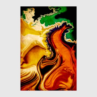RAGING FIRE ABSTRACT N 2 - Poster 8 x 12
