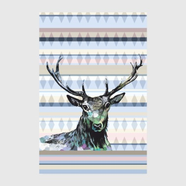 Deer king of the forest - Poster 8 x 12