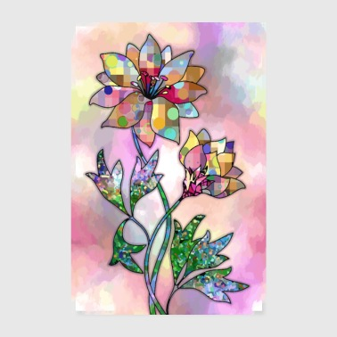 Colorful flowers - Poster 8 x 12