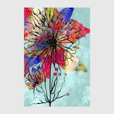 Colorful flower - Poster 8 x 12