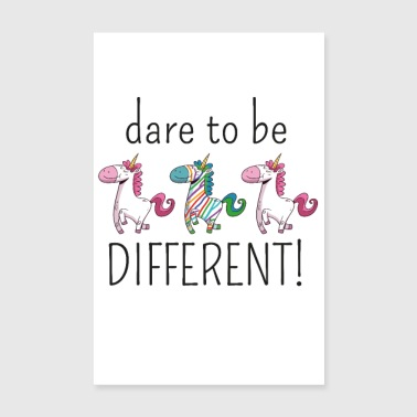DARE TO BE DIFFERENT | The colorful zebra - Poster 8 x 12