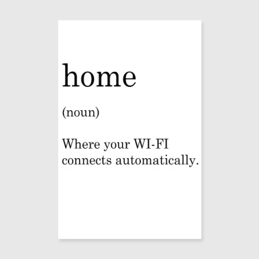 thuis wifi - Poster 20x30 cm