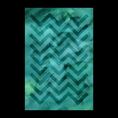 Watercolor motif »Zigzag« | turquoise - Poster 8 x 12
