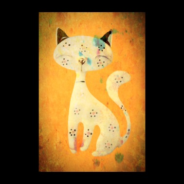 Female cat with a long tail - Poster 8 x 12