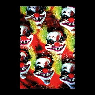 Coulrophobia - Creepy halloween horror clowns - Poster 8 x 12